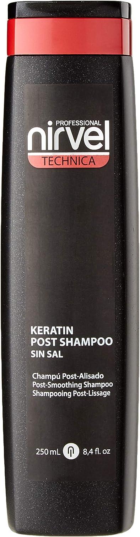 Nirvel Technica CHAMPÚ Keratin Post 250 ml, Negro