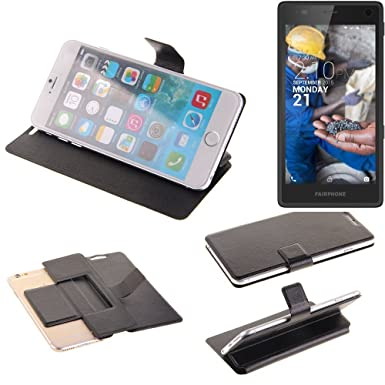 the latest 2a59e 40ac8 KS-Trade Flipcover proetciont case for Fairphone Fairphone 2, black |  bookstyle wallet slim cover (TM)