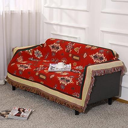 HYLRUS European Style Living Room Sofa Blanket Double Sided Pattern Carpet  Bedroom Cover Blanket Dust