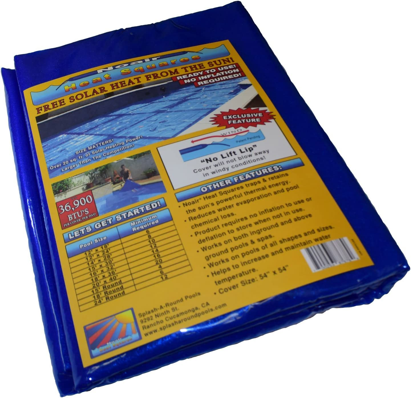 NoAir Heat Squares NS792-4 Solar Blanket, 54 by 54-Inch, 4-Pack