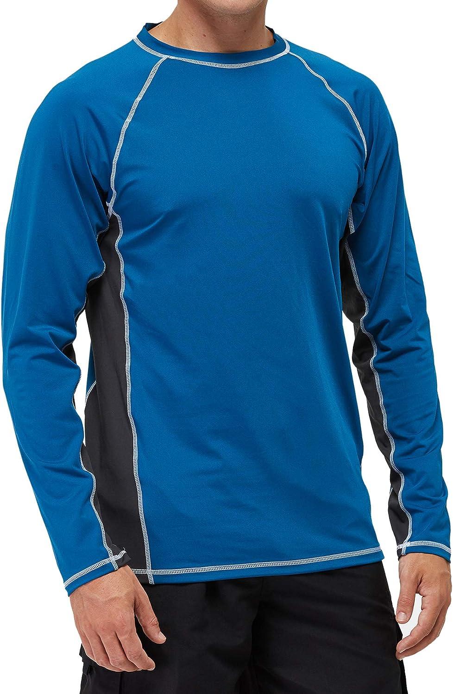 SLYRAIME Mens UPF 50+ Quick Dry Sun Protection Beach Swim Shirt Running Long Sleeves Workout Tops |