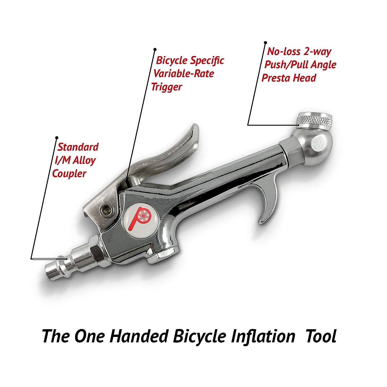 Tool French Air Pump  Presta valve Core  Bike Tire Tyre Silver Detachable