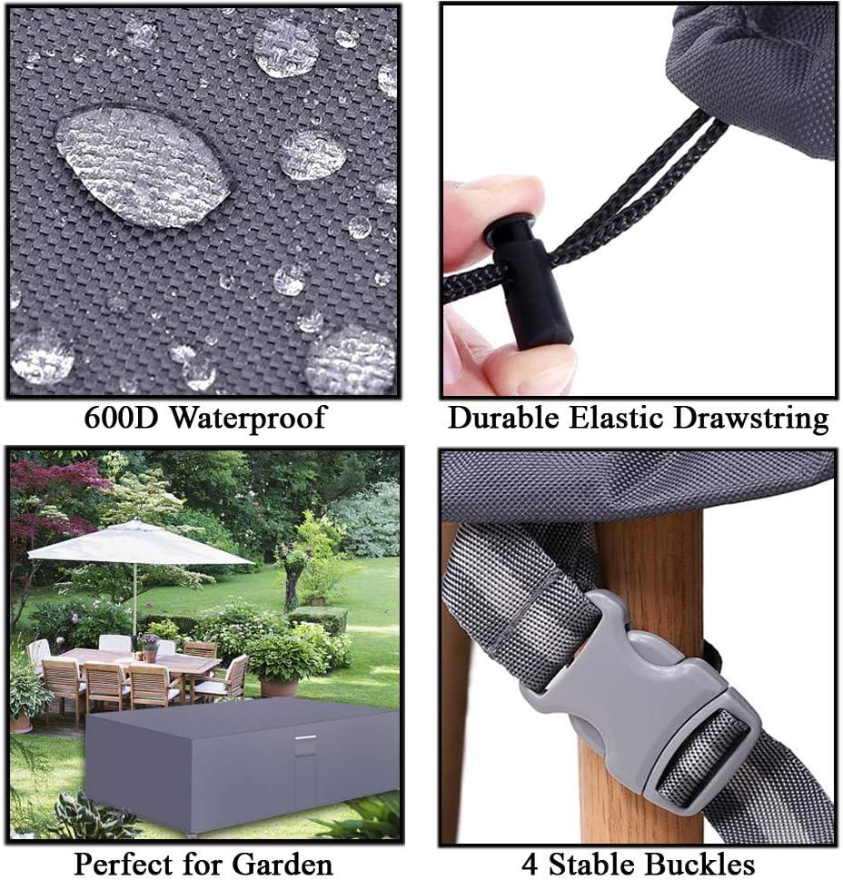125x125x71cm PATIO PLUS Gartenm/öbel-Abdeckung Strapazierf/ähig 600D Wasserdicht UV-Schutz Winddicht f/ür Gartentische