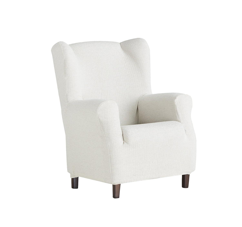 Eysa Dorian elastisch Sofa überwurf ohrensessel, Chenille, 00-Ecru, 37 x 9 x 29 cm