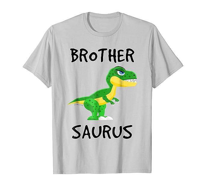 ba9445bc Mens T-Rex Brother Saurus Shirt - Funny Dinosaur Lover Gift Shirt 2XL Silver