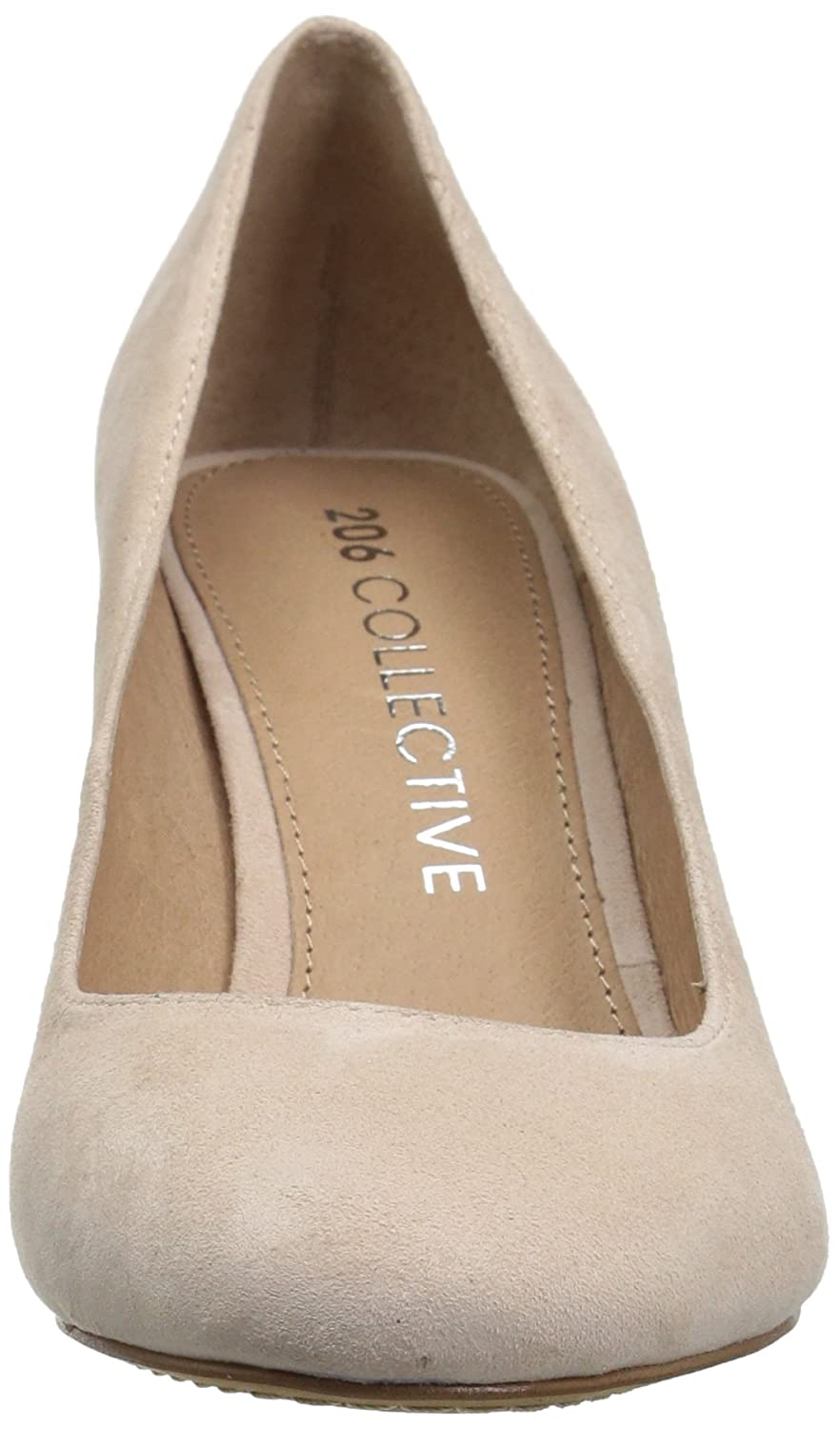 206 Collective Women's Coyle Round Toe Block Heel High US|Blush Pump B078B1H6DN 12 C/D US|Blush High Suede d2268e