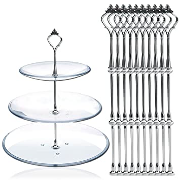 10 x Sets 2 or 3 Tier Cake Plate Stand Fittings Silver Plate Stands New  sc 1 st  Amazon UK & 10 x Sets 2 or 3 Tier Cake Plate Stand Fittings Silver Plate Stands ...