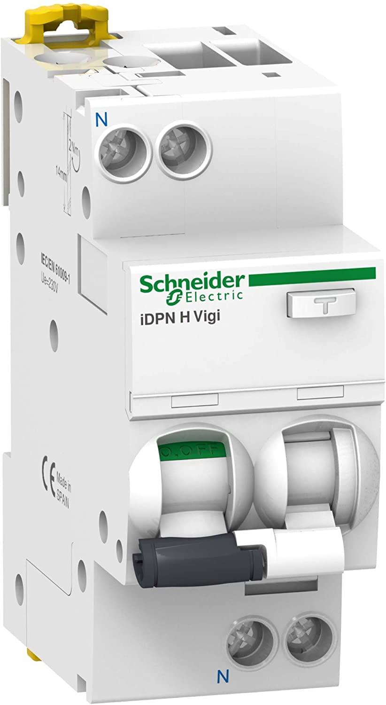 Schneider A9D47616Residual-Current Circuit Breaker Switch IDPN H VIGI 1P + N 16A–Char A/30mA Type A 10Ka