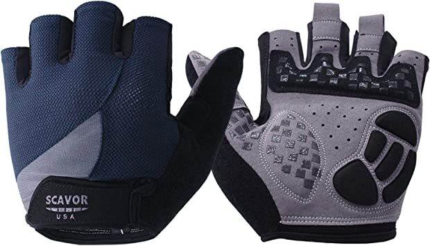 Guantes de ciclismo fingerless guantes con Full Medio Dedo Pulgar ...