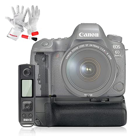 3aac0b8f7aa69f Amazon.com   MEIKE MK-6DII Pro Battery Grip for Canon 6D Mark II ...