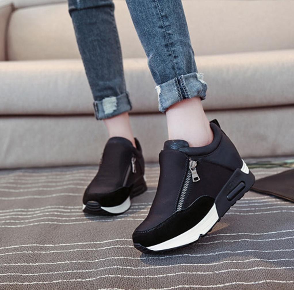 Botas, Manadlian Zapatillas de deporte de mujer Deportes Correr Senderismo Zapatos de plataforma de fondo grueso (EU:39, Negro): Amazon.es: Electrónica