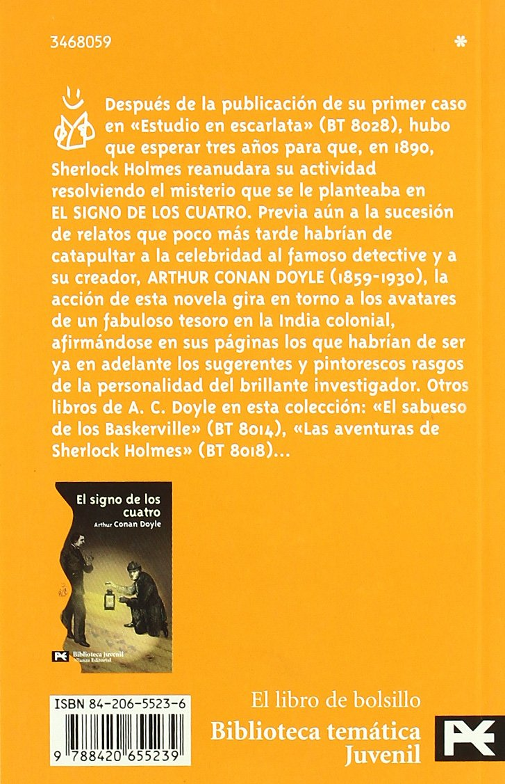El Signo De Los Cuatro / The Sign Of Four (El Libro De Bolsillo) (Spanish Edition): Arthur Conan, Sir Doyle: 9788420655239: Amazon.com: Books
