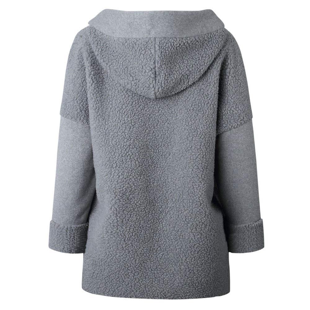 Wool Coat, Kulywon Women Hooded Long Sleeve Zipper Pullover ...