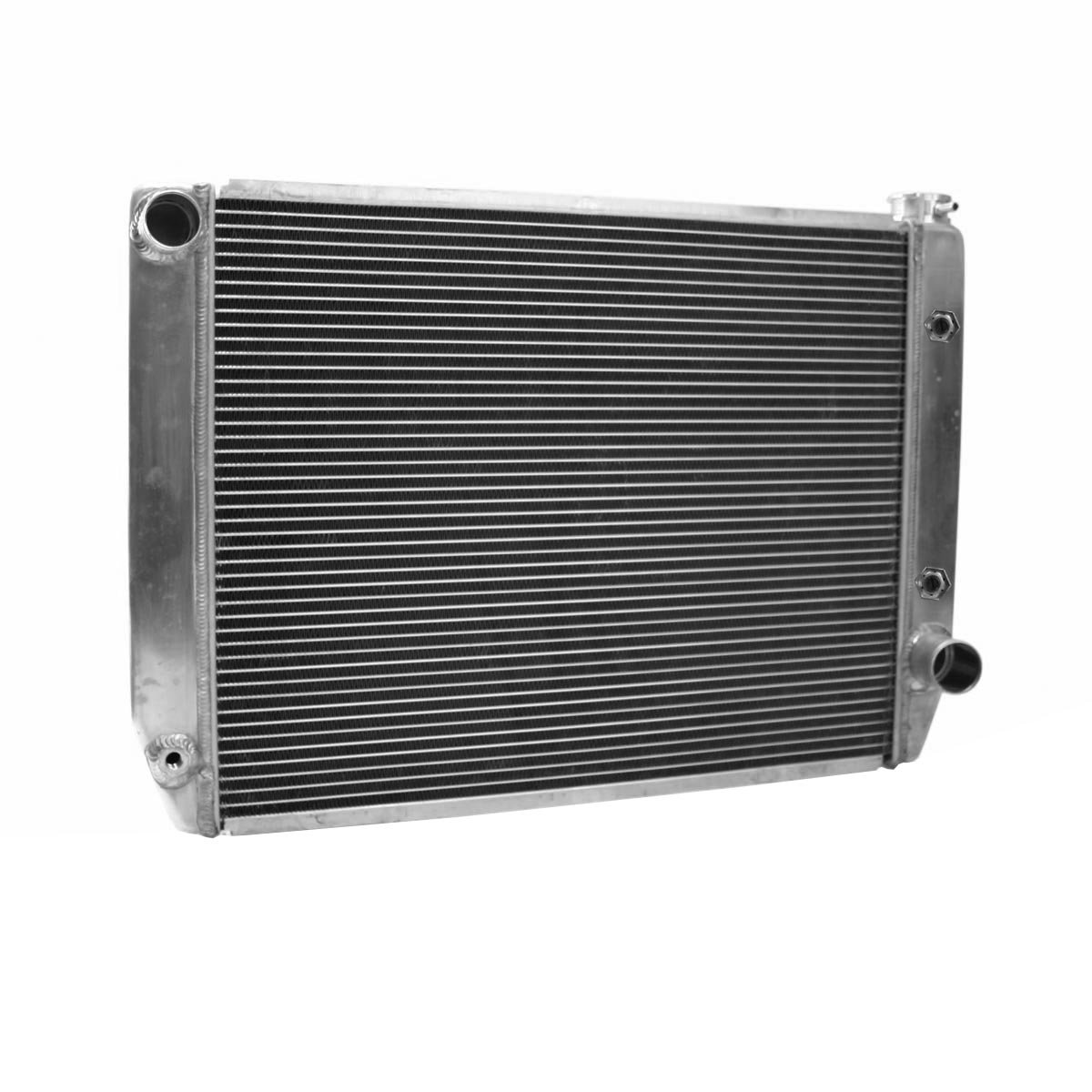 Griffin Radiator 1-25242-T Universal ClassicCool 27.5'' x 19'' Aluminum Radiator with 2 Rows of 1'' Tube