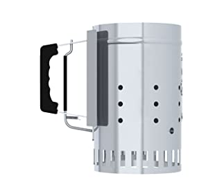 Char-Griller Charcoal Grill Chimney Starter with Quick Release Trigger, 12-Inch