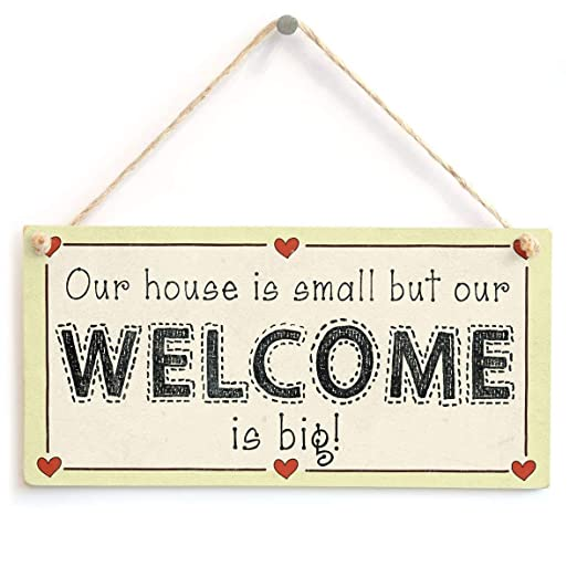 Our House Is Small But Our Welcome Is Big Letrero de Placa ...