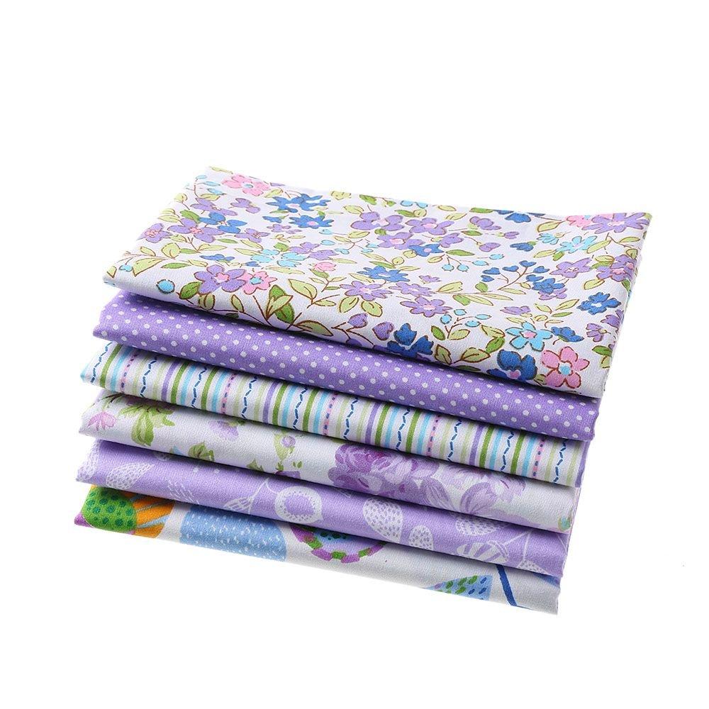 FOVIUPET 6 piezas 50 x 40 cm 100% algodón tejido de patchwork flor estampado DIY paños para coser acolchado hogar textil: Amazon.es: Hogar