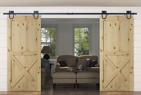 Herradura Kit de puerta corrediza de madera de granero pista: Amazon.es: Bricolaje y herramientas