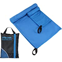 2piezas/set secado rápido, microfibra absorbente toalla de baño + toalla pequeña antibacteriano de secado rápido Premium de refrigeración toalla de microfibra para deportes, gimnasio, viaje natación Camping playa
