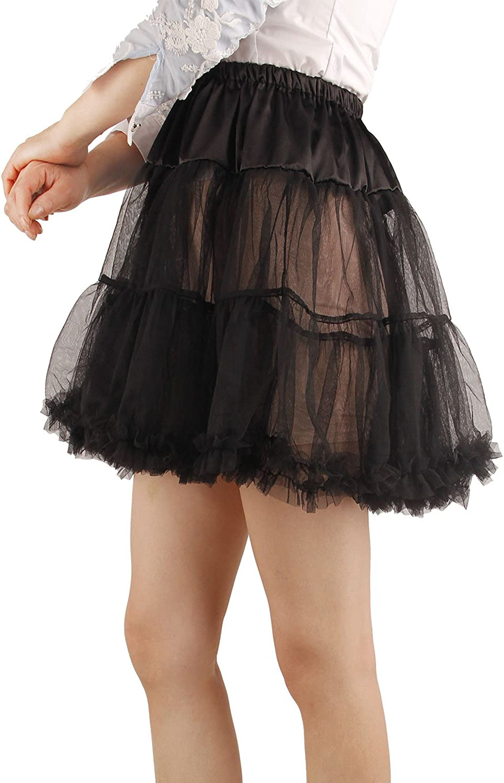 SHIMALY Damen Prinzessin Layered Puffrock Mini Tutu Rock Kurz Petticoat