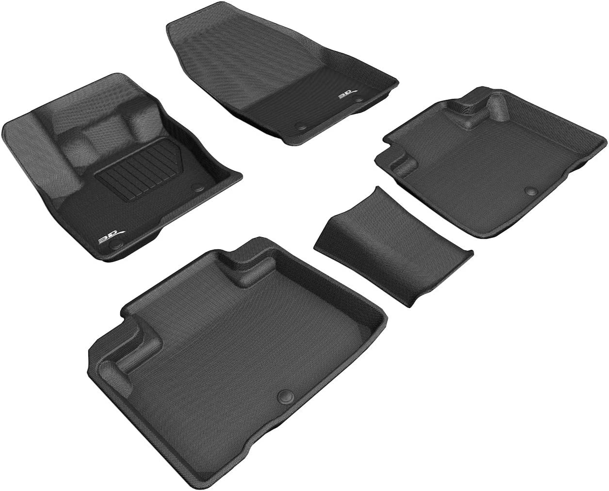 Coverking Custom Fit Front and Rear Floor Mats for Select Lincoln Continental Models Nylon Carpet CFMBX1LN9205 Black