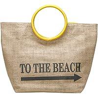 WERT1506 Kum Rengi Kadın Plaj Çantası Renkli STD