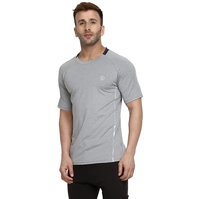 b6c10908ea CHKOKKO Men's Polyester Round Neck Regular Dry Fit Stretchable Jersey Gym  Sports T-shirt (Light Grey, Medium): Amazon.in: Clothing & Accessories