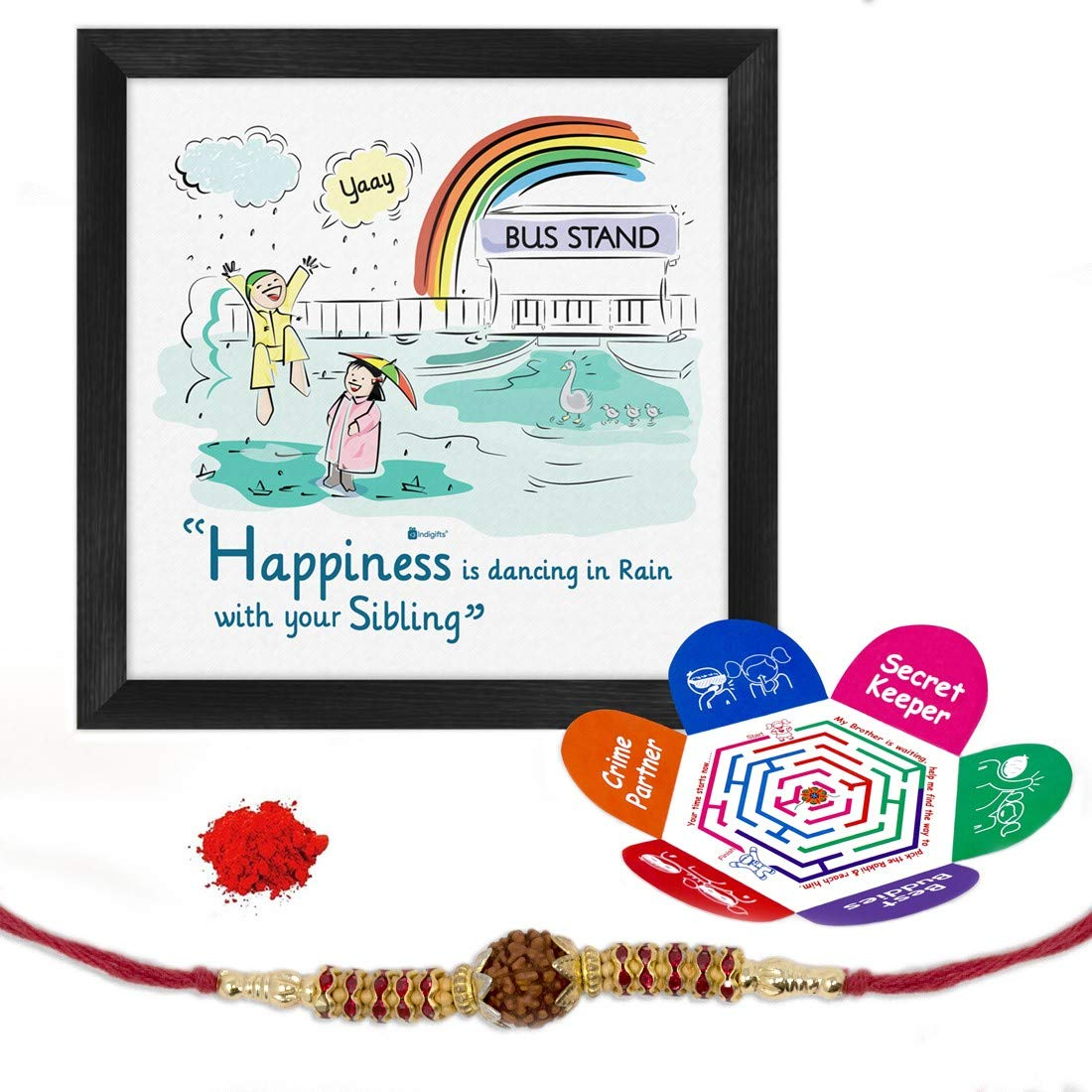 Indi ts Set of Dancing In Rain with Sibling Quote Poster