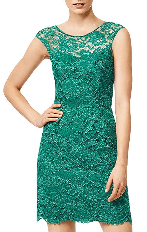 Summerwhisper Women's Lace Party Fall Dress Tank Top Dress Bodycon Green