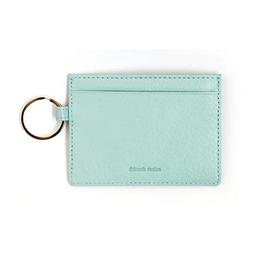 0852dd3701734 Leather River Slim Card Wallet Useful Credit Card Key Ring Wallets Small  Purse (Sky Blue) at Amazon Women's Clothing store: