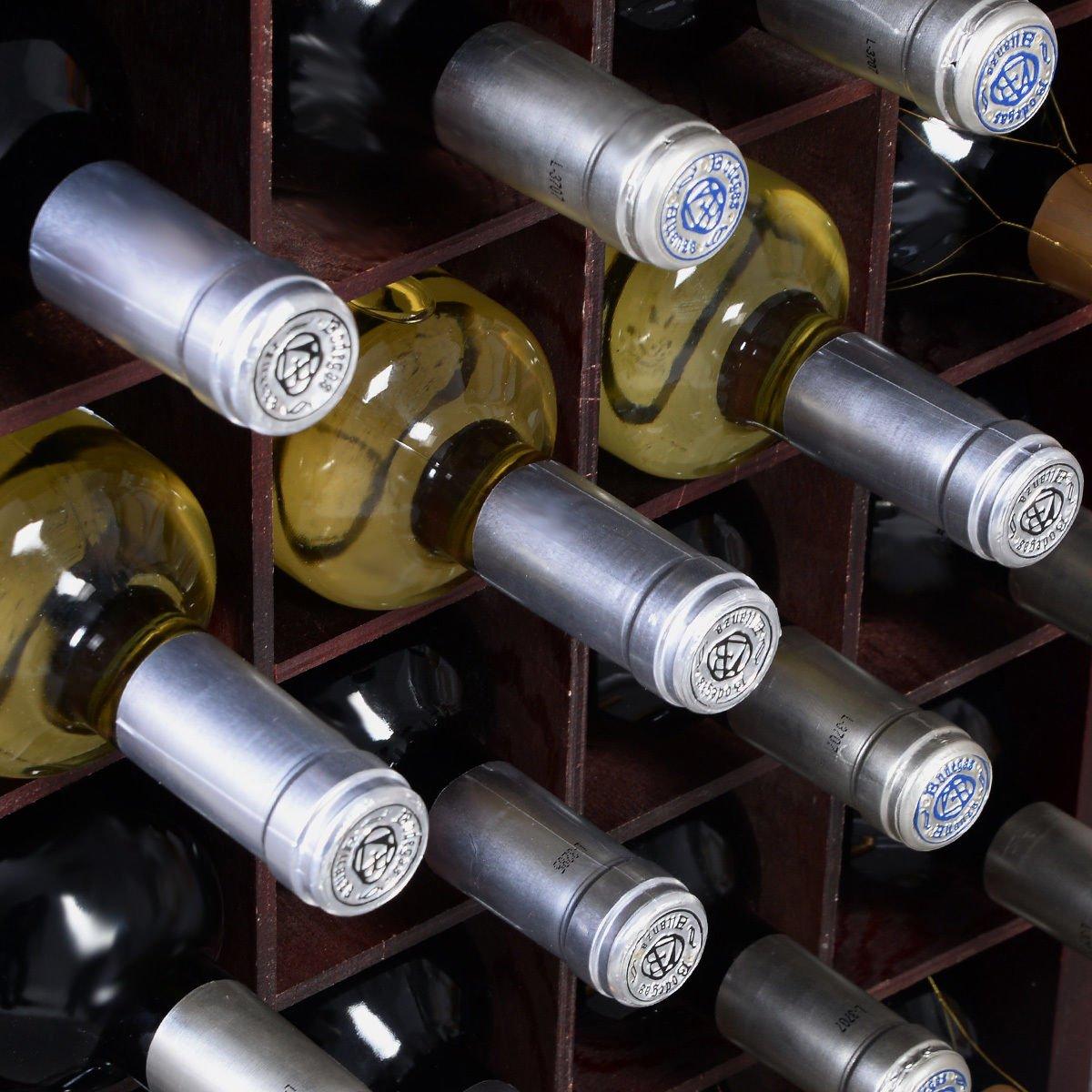 New Wine Wooden Cabinet Bottle Holder Storage Kitchen Home Bar w/ Glass Rack by Unknown (Image #6)