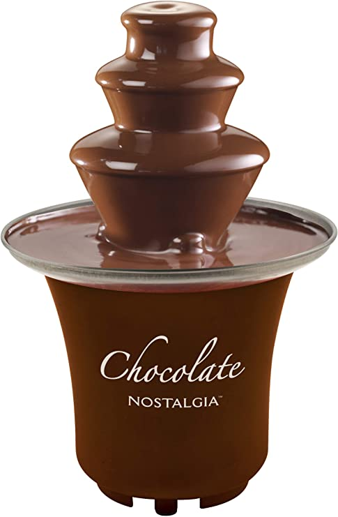 Brown Nostalgia CFF3BR 8-Ounce Chocolate Fondue Fountain BBQ Sauce ...