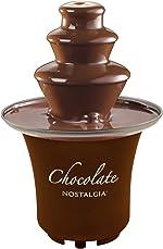 Nostalgia 8-Ounce Chocolate Fondue Fountain, Half-Pound Capacity, Easy to Assemble 3-Tiers,