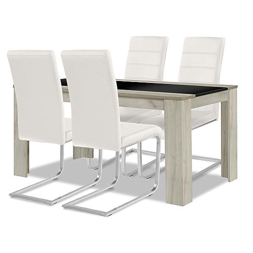 Allegro para una mesa de comedor + conjunto de silla: 1 x 4 sillas ...
