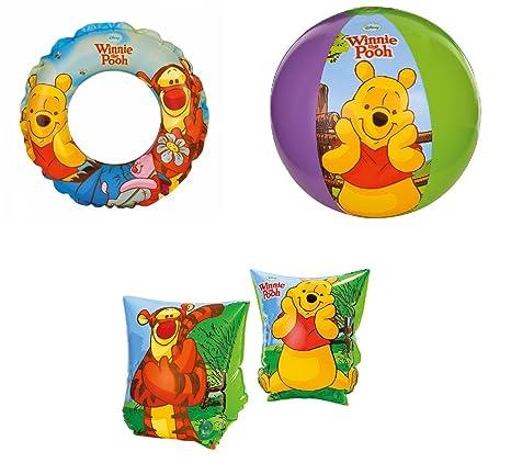 Braccioli Winnie Pooh.Intex Kit N 1mare Braccioli Palla Ciambella Winnie The Pooh Bambino