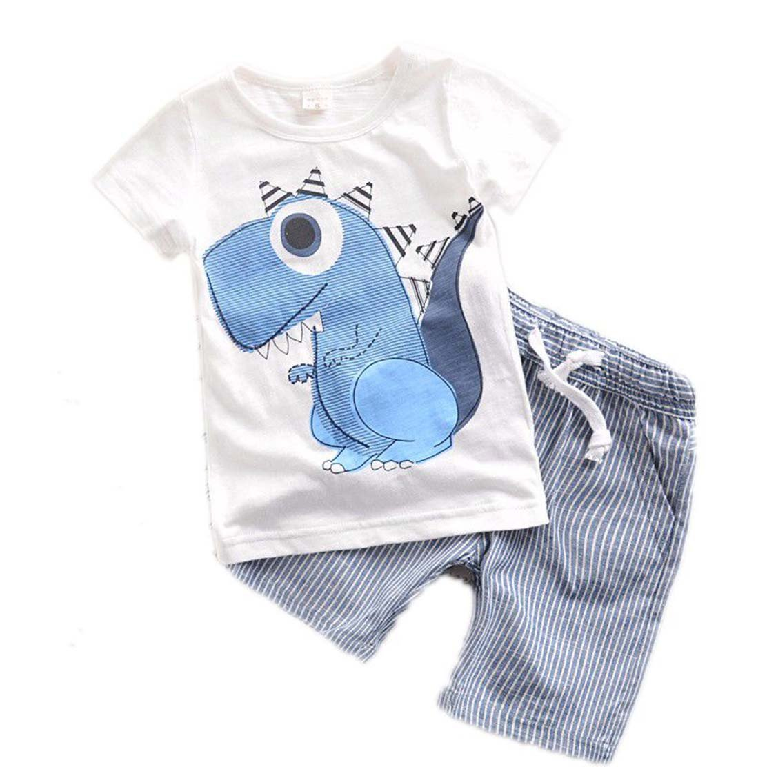 daqinghjxg New Children Baby Boys Clothes Cartoon Kids Clothing Sets T Shirt+Shorts