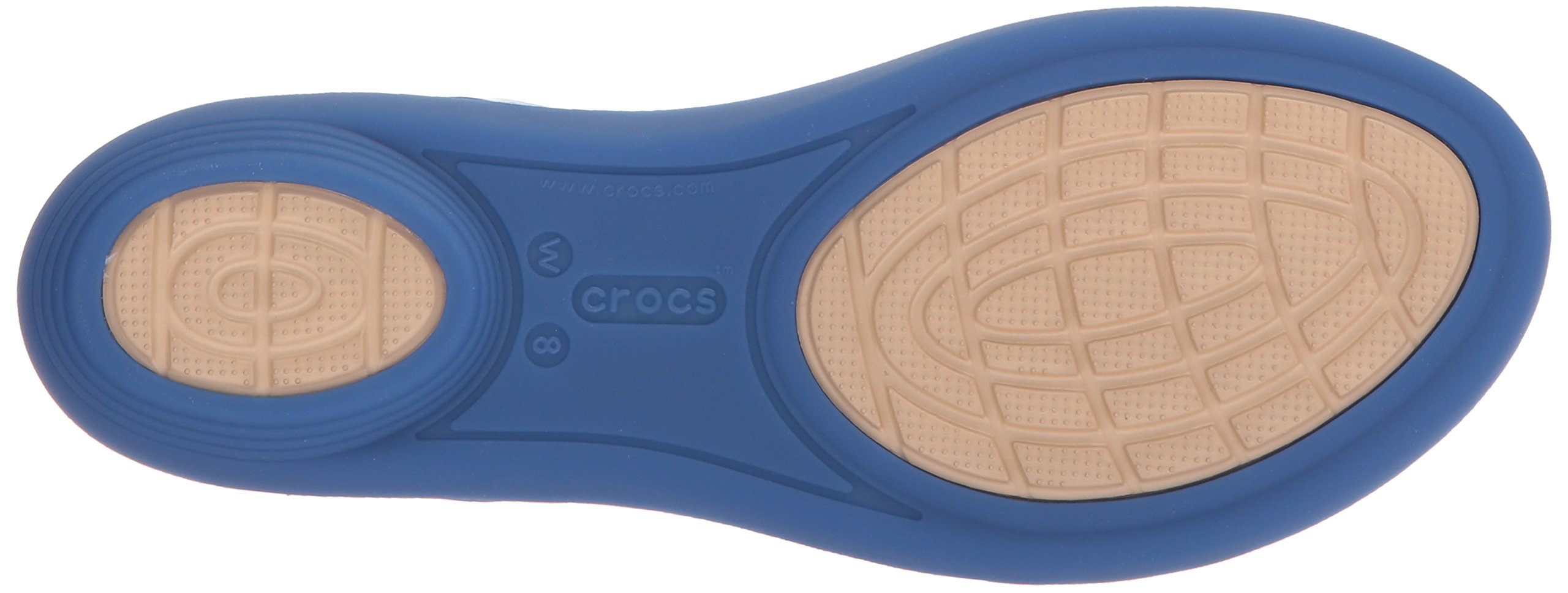 Crocs Women's Isabella GRPH Strappy Flat Sandal, Blue Jean/Gold, 10 M US by Crocs (Image #3)