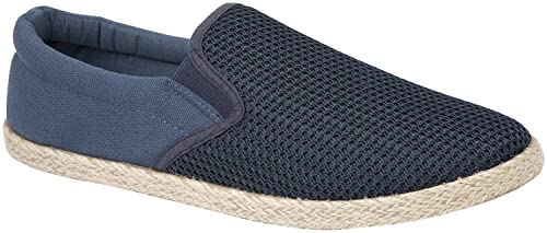 47f410027aa Mens Slip On Canvas Shoes Summer Pumps Casual Espadrilles Lightweight  Plimsolls  Amazon.co.uk  Shoes   Bags