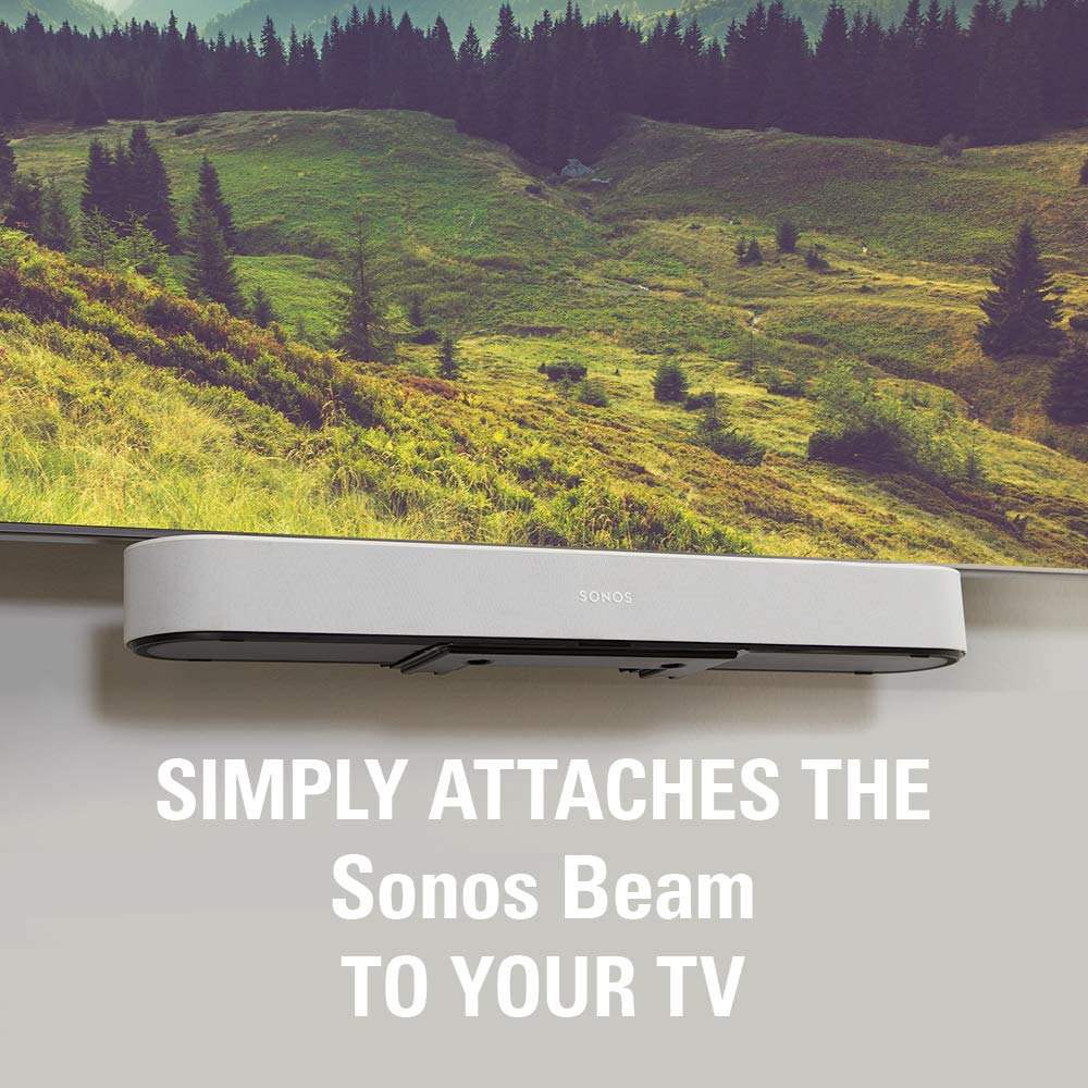 Sanus Soundbar Mount Compatible with Sonos Beam - Height Adjustable Up to 12'' & Designed to Work with Any TV - Custom Fit to The Beam for Optimal Audio Performance by Sanus (Image #2)