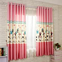 HGMart Indoor Curtain Set for Kids Bedroom - Noise Reducing Thermal Insulated Blackout Window Drapes (Pink,2pack, 59x82 Inch)