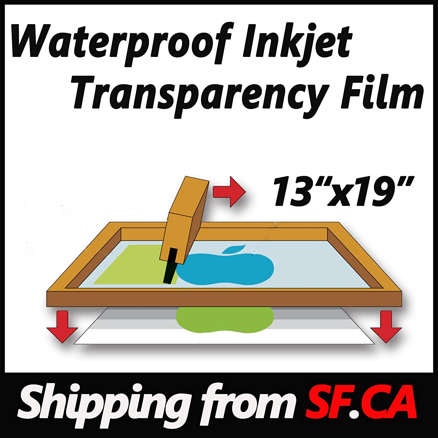 24x100//roll Premium Waterproof Inkjet Instant-Dry Milky-Transparency Positive Silk Screen Printing Film,Great for EPSON,HP,Canon Water-Based Dye and Pigment Inks Printers