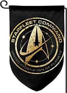 CaMoloMaC Star Trek Courtyard Outdoor Decoration Double-Sided Printing Garden Flag