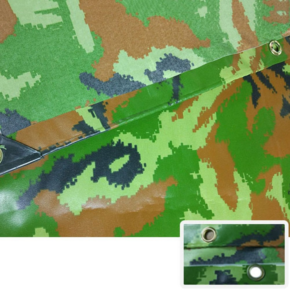 AJZGF Im Freien Wasserdichtes der Sonnenschutzzelt der Wasserdichtes Tarpaula-Tuchdreirad-Autoplane Anti-Korrosion Anti-Altern, Tarnung (Farbe : Camo, größe : 5X5M) 8cb34d