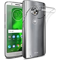 for Motorola Moto G6 Plus Clear Case Soft Gel Clear Transparent Shockproof TPU Thin Slim Case Cover