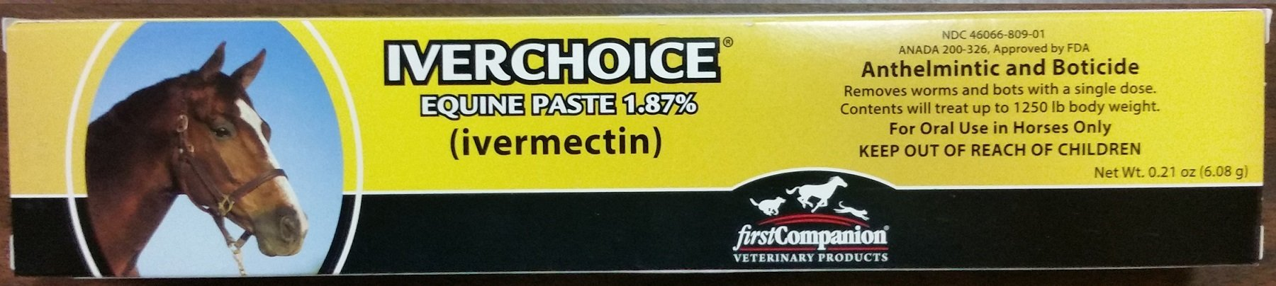 First Companion Ivermectin Paste 1.87% Horse Wormer (18 Tubes)