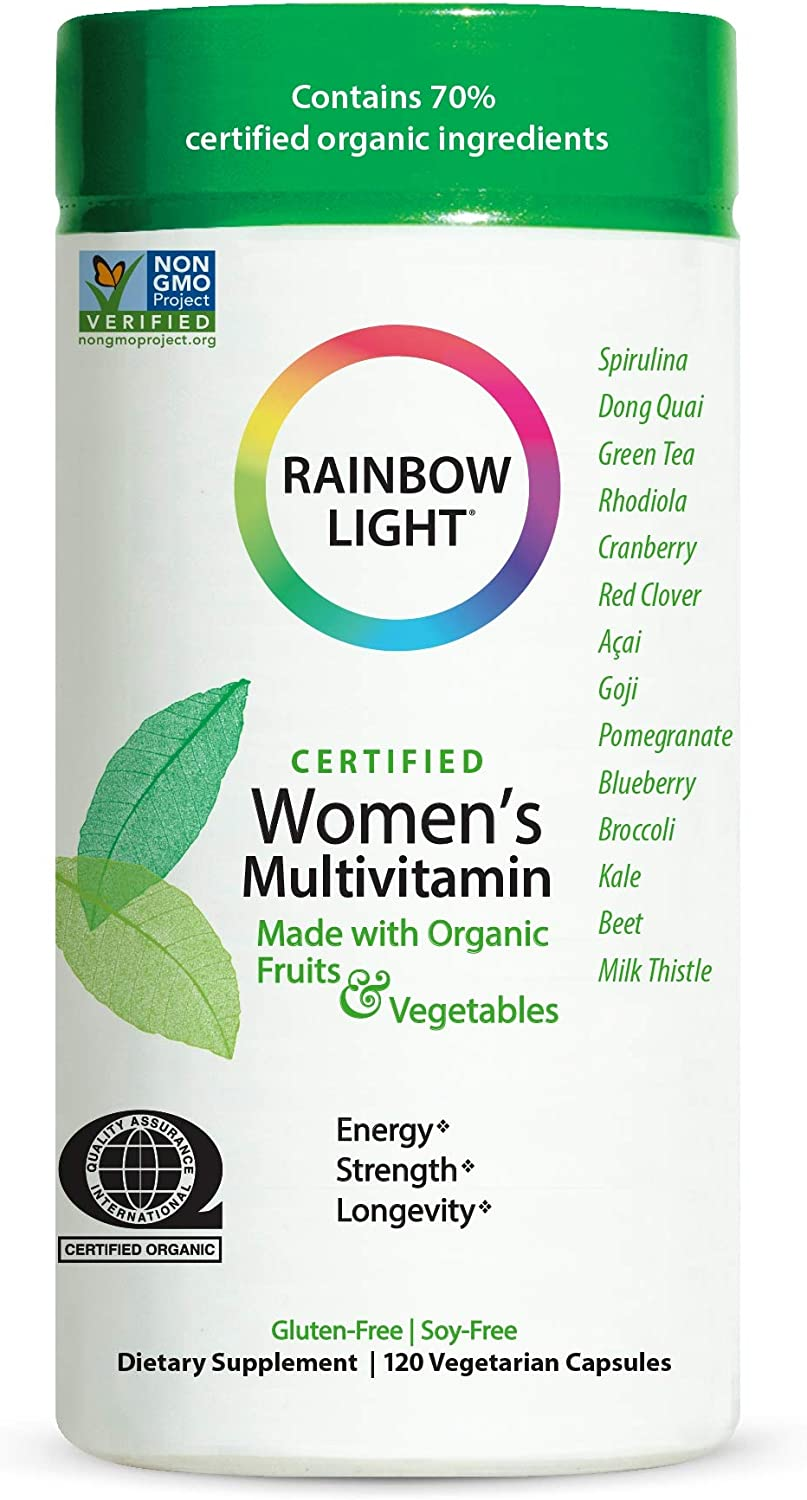 Rainbow Light Women's Multivitamin, Organic Fruits & Vegetables, 120 Capsules (Package May Vary): Health & Personal Care