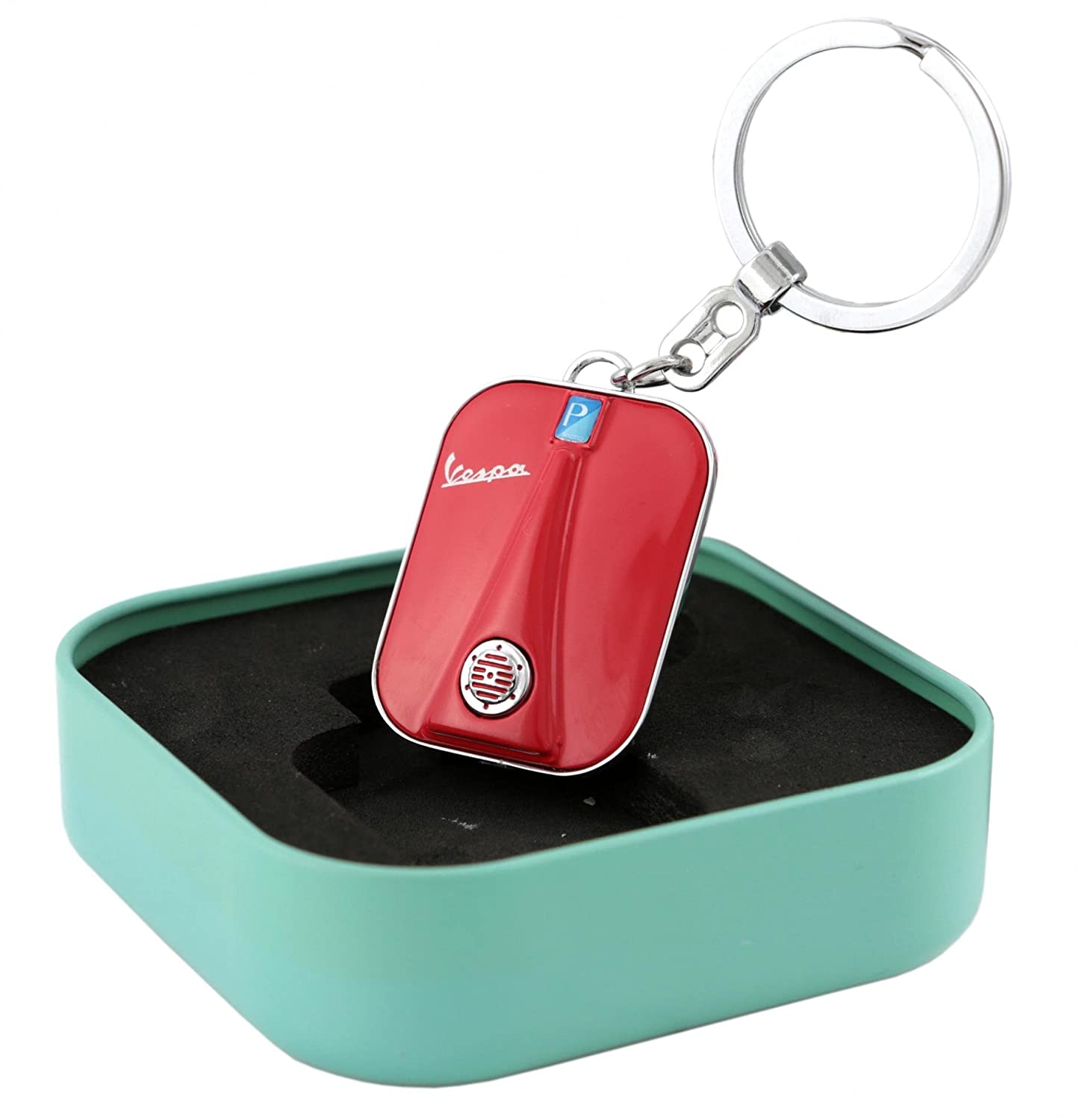 Amazon.com: forme Vespa Legshield Key Chain in Metal Box ...
