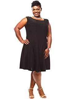 df2f7f7b64169 Julian Taylor Womens Plus Size Sleeveless Lace Fit and Flare Dress ...