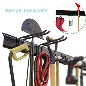 Ultrawall Garage Wall Organizer, 9PC Garage Tool Hooks,Garden Tool Storage Rack