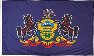 product image for Annin Flagmakers Model 144680 Pennsylvania Flag Nylon SolarGuard NYL-Glo, 5x8 ft, 100% Made in USA to Official State Design Specifications